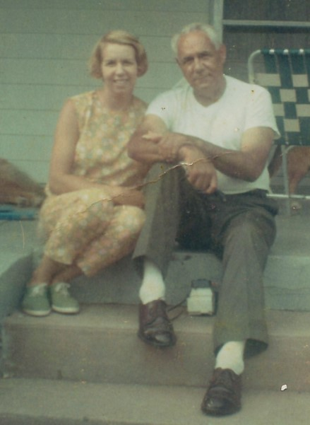 Grandpa Sprinkle with my Mom ... July 31, 1968
