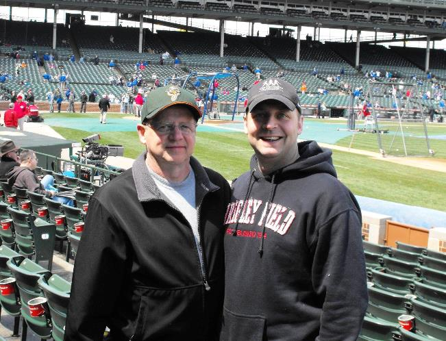 Rick & Eric, Wrigley Field in Chicago, 2009