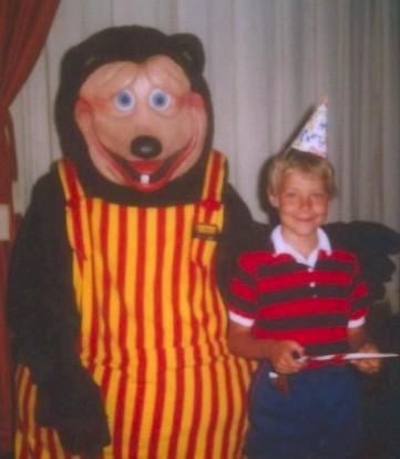 ERIC & the Chuck E. Cheese Bear - 6th Birthday
