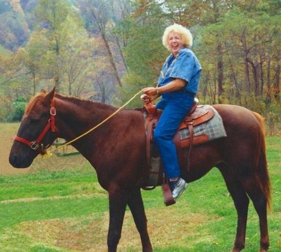 My Mother on horseback - October 1993